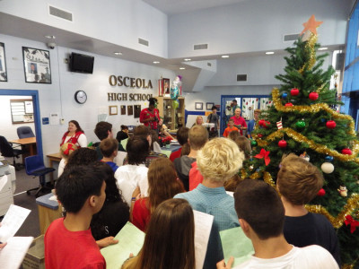 Warriors spread Christmas Cheer