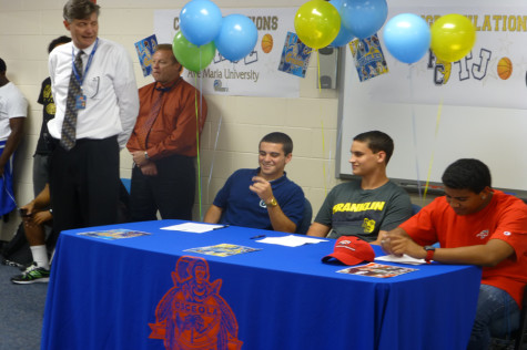 Three senior athletes sign up for the next step
