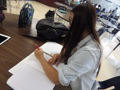 Students speed through homework