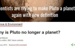 Pluto: to be, or not to be?