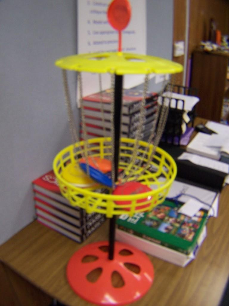One of the disk golf games located in Mr. Zs portable.