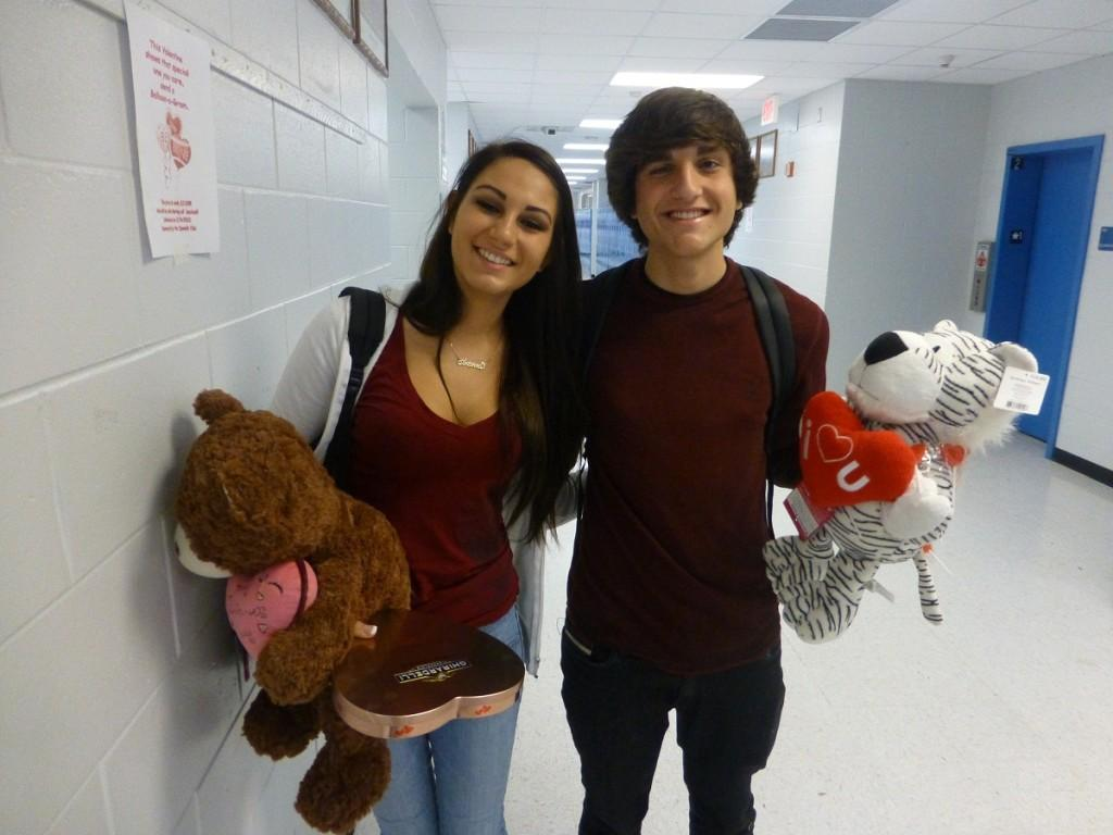 Students smitten over sweethearts