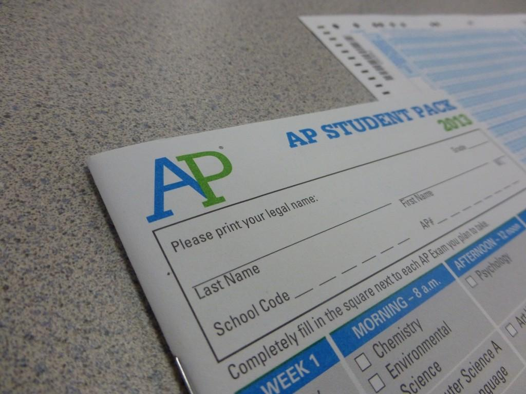 The AP packet students must fill out before they take the test.