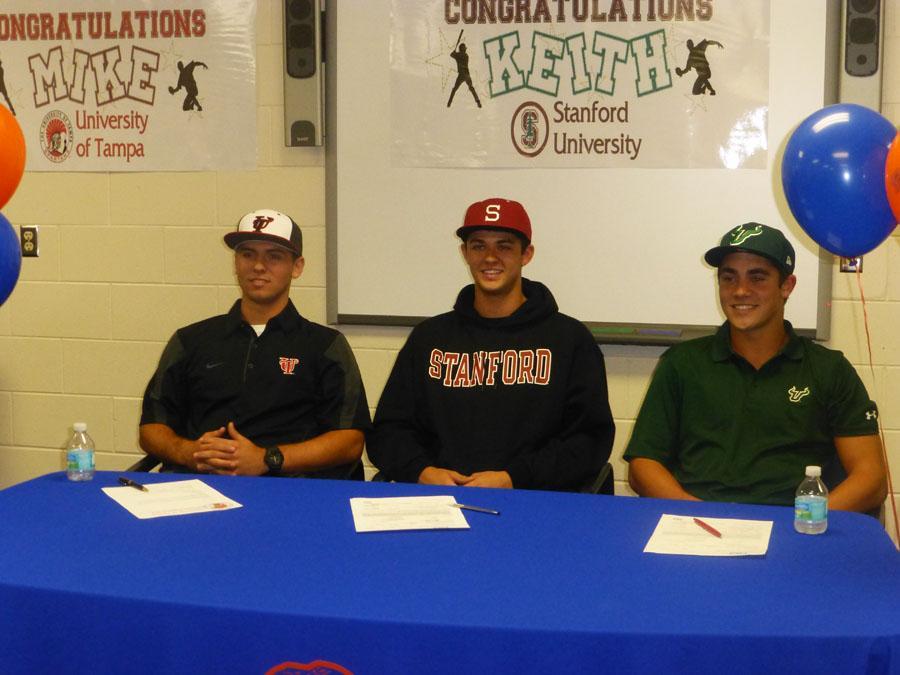 College bound baseball players