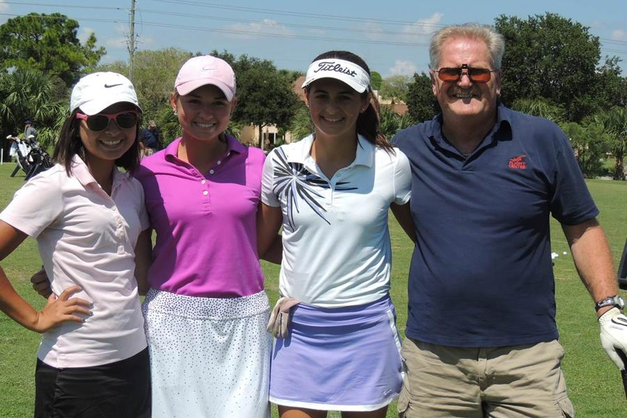 The girls golf team with Co-Coach Mr. Robinson