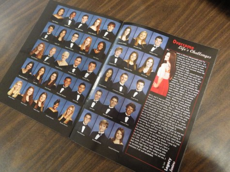 This file picture shows an  old OFHS yearbook senior spread.