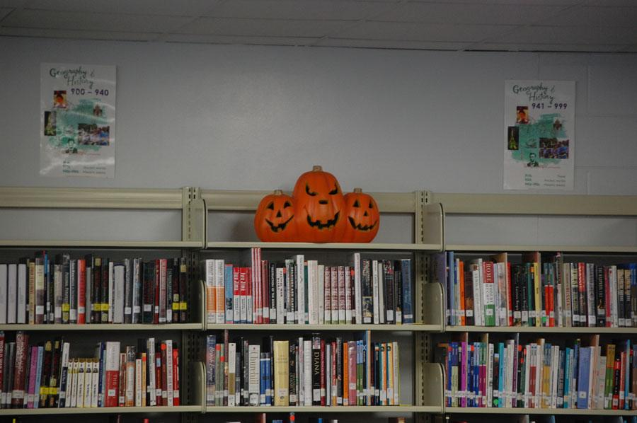 The+media+center+gets+into+the+Halloween+spirit.