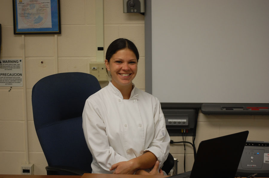 The new culinary teacher chef Jackie is looking forward to teaching at Osceola.