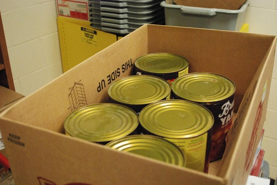 Leadership collects cans for charity