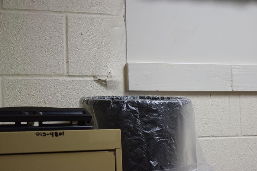 Mrs. Iovinos room suffers from multiple leaks.