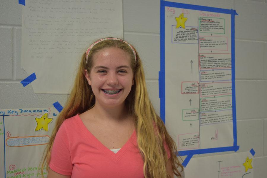 Elizabeth Cheshire, 9th grade.