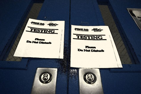 Testing has begun at Osceola and will continue until the last day of school.