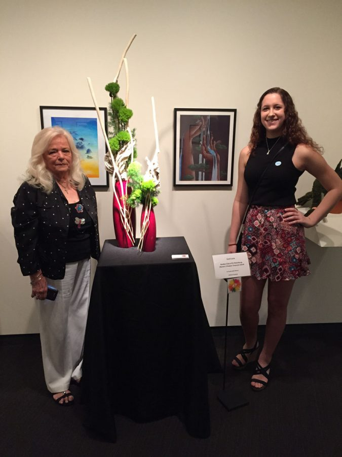 Student work displayed in Museum of Fine Arts
