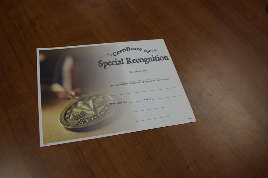 This is one of the many awards that can be given out at the senior awards ceremony.