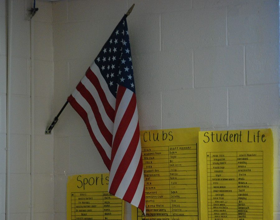 The flag represents American victory after achieving Labor Day rights.