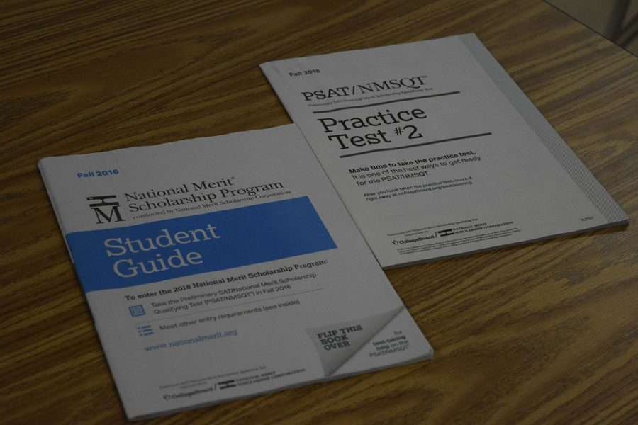 PSAT booklets are provided for extra practice.