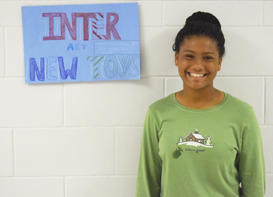 Sophomore Kylee Brooks is excited to participate in the Red Sled campaign.