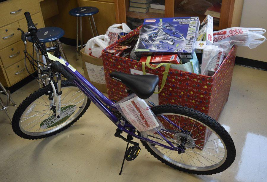 Toys collected from NHS are stored in Mrs. Ferguson's room.