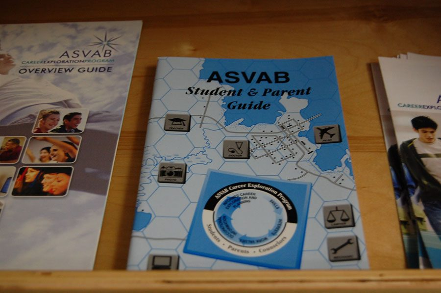 There are study guides available in the front office for the students interested in taking the ASVAB.