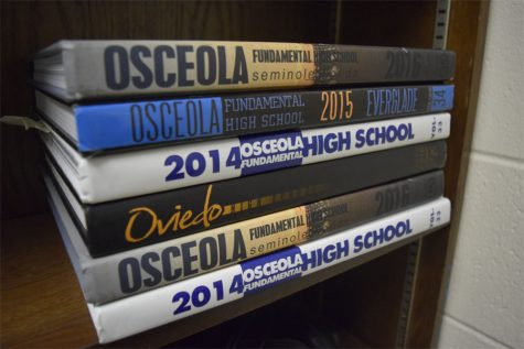 "These are previous yearbooks from OFHS.  The 2018-19 yearbook just received an Honorable Mention in the Balfour national publication, ""Yearbook, Yearbook."""
