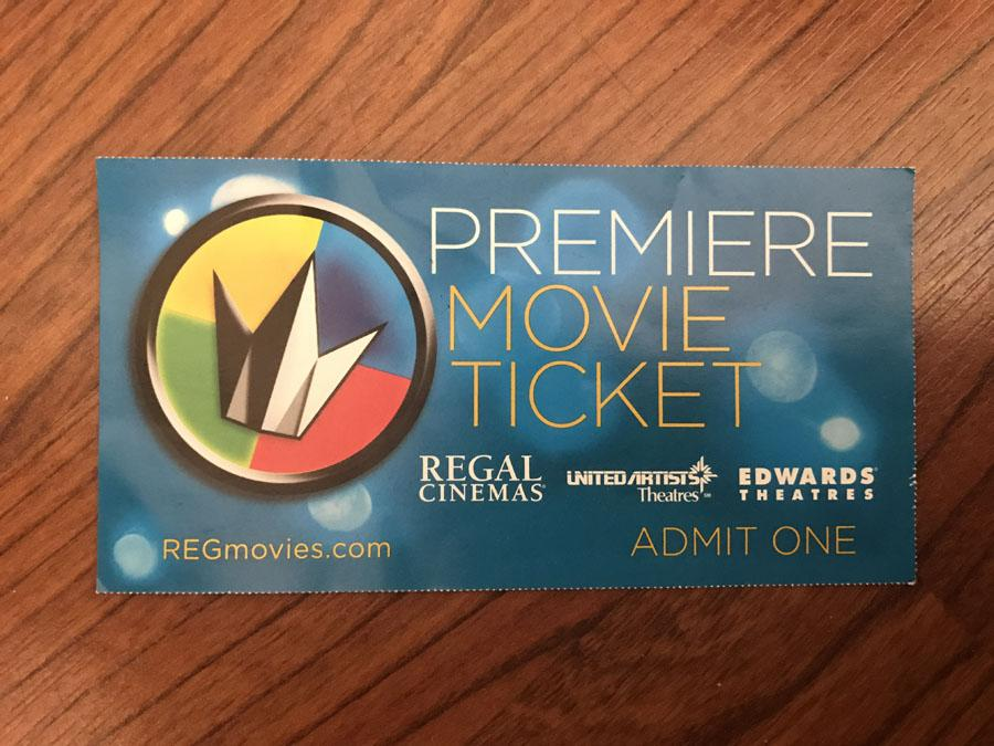 Movie tickets from going to the movies