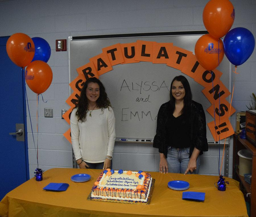 Both Emma and Alyssa will make speeches at graduation, May 16.