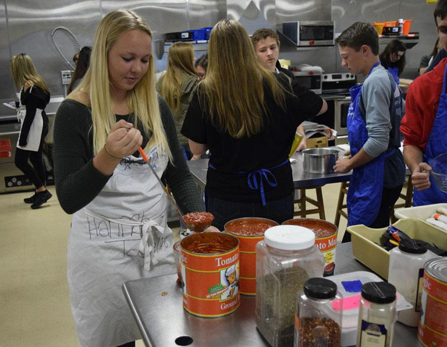 On Wednesday, culinary students prepared spaghetti meals for Fridays event.