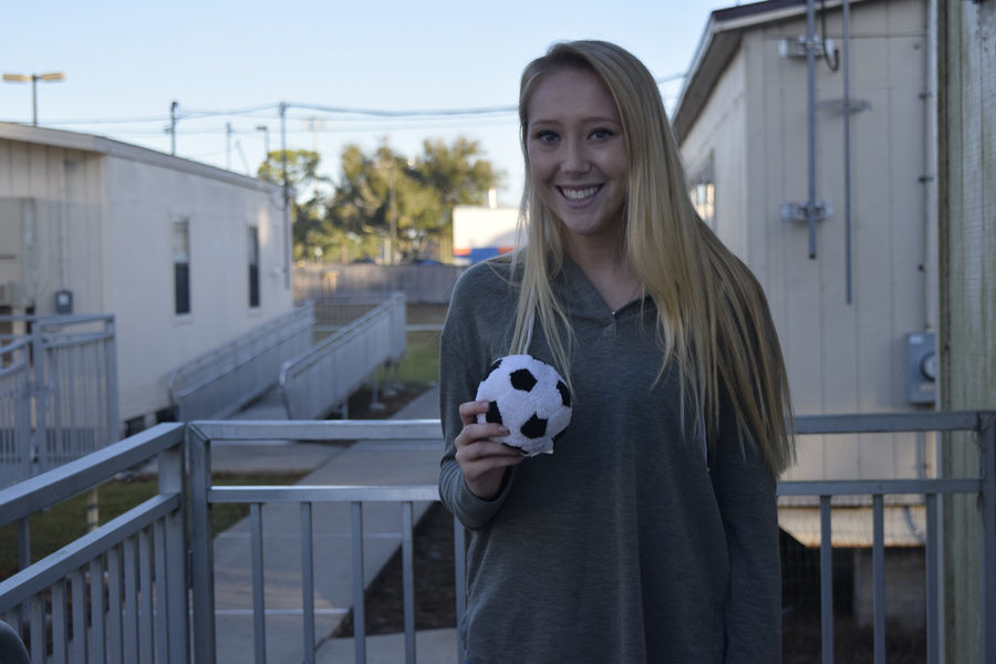 Senior Leah Pecora hopes to learn some new soccer moves down in Mexico.
