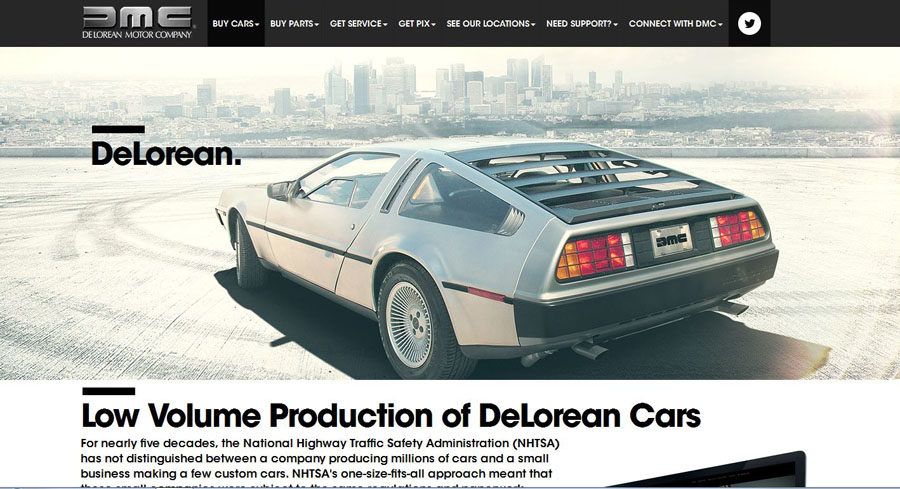 This is the model of the DeLorean that will be produced sometime in 2017.
