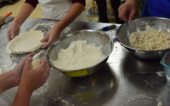 Student chefs prepare pies