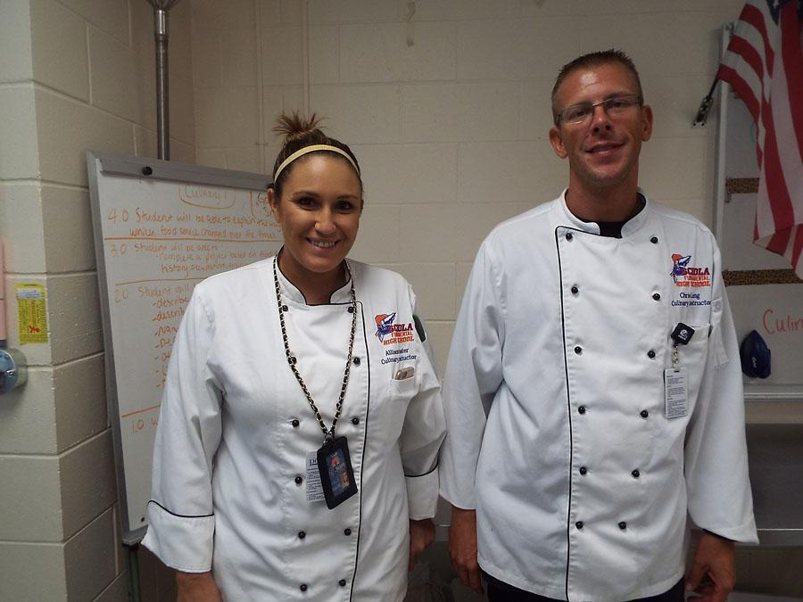 Chef Marten (left) with Chef Long (right)