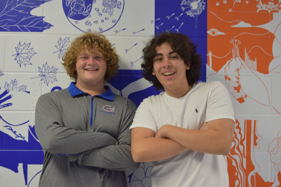 Kevin Lester (left) and Gabe May (right) love to pose together.