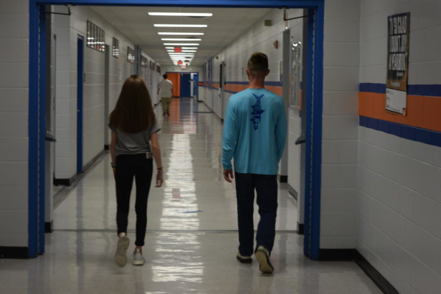 Two+freshmen+walk+into+their+futures+at+OHS.