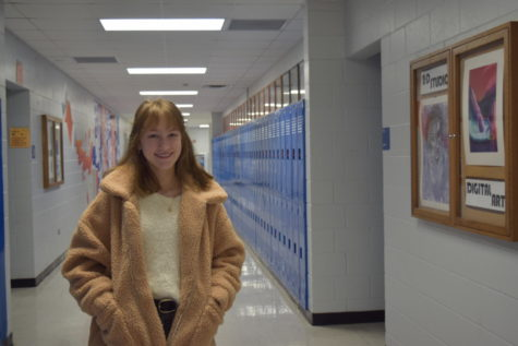 Freshman Viktoria Ivanova looks happy about high school.