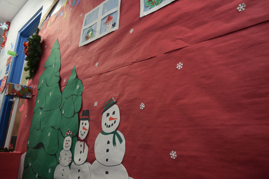 Bookkeeping decorated their area for the holidays.