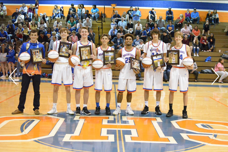 From left to right: Tyler Ellison, Sam Manley, Nick Quinn, Camden George, Daniel Abdul, Joey Guntek, Grant Thrower.