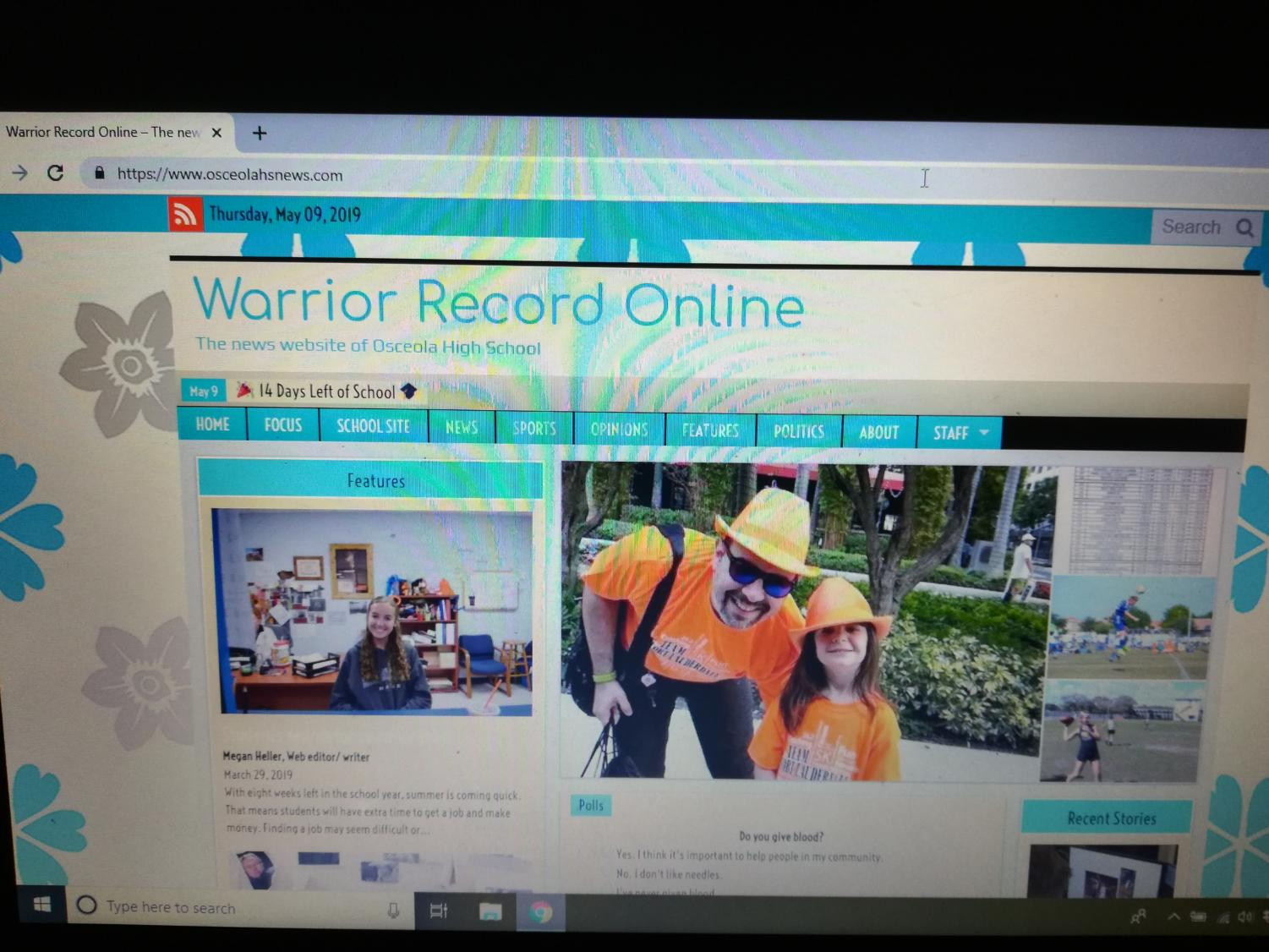 Journalism students create all of the content on The Warrior Record website.