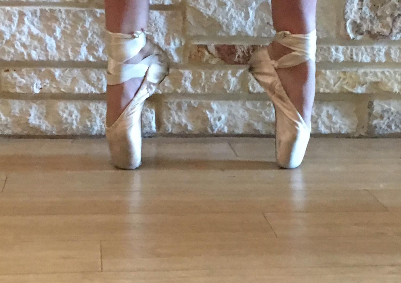 Kendyl practices ballet.