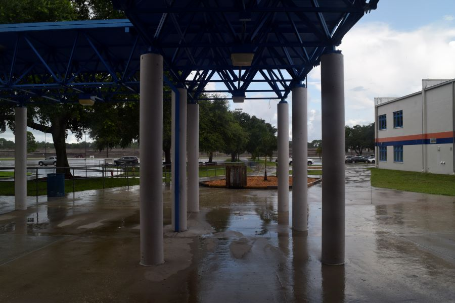 Rain nearly forced a rainy day schedule for Osceola students earlier this week.