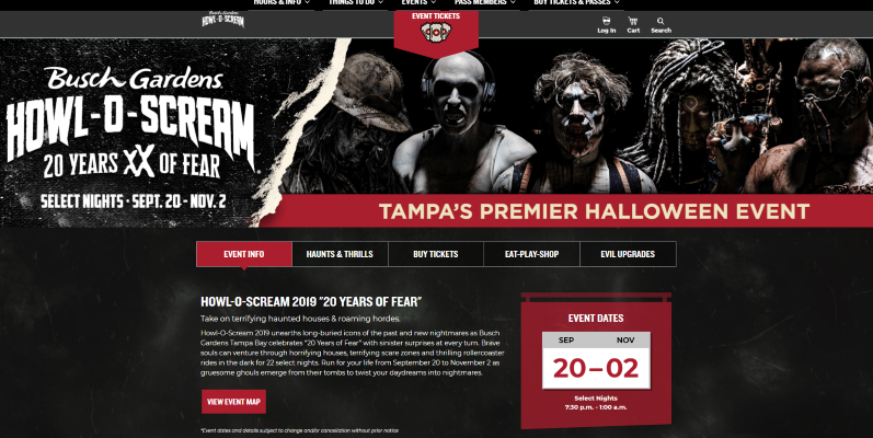 This+is+the+Busch+Gardens+howl-o-scream+website.