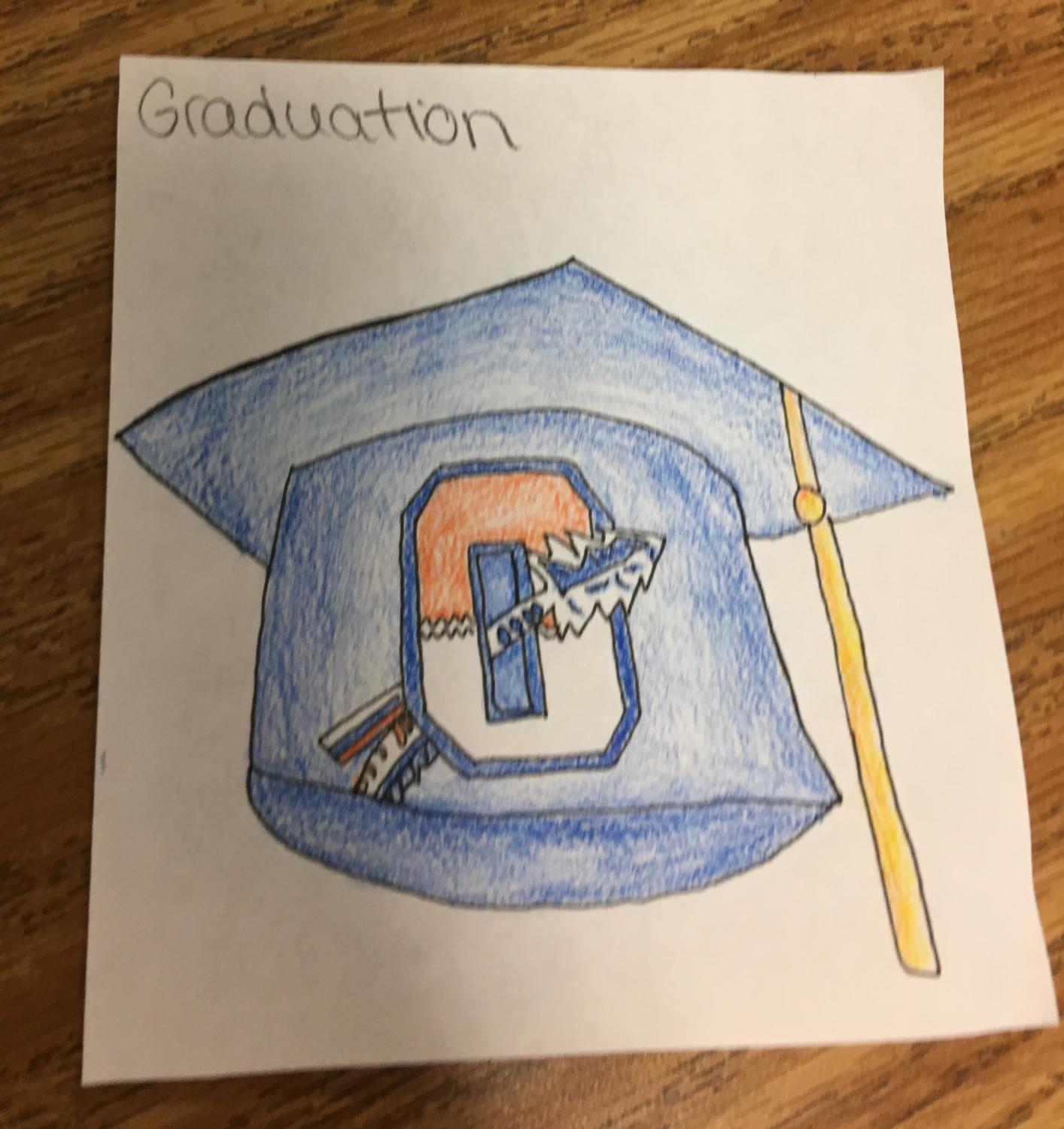 Art By Cassie Sandberg. The graduation this year was moved from June 2nd to May 21st.