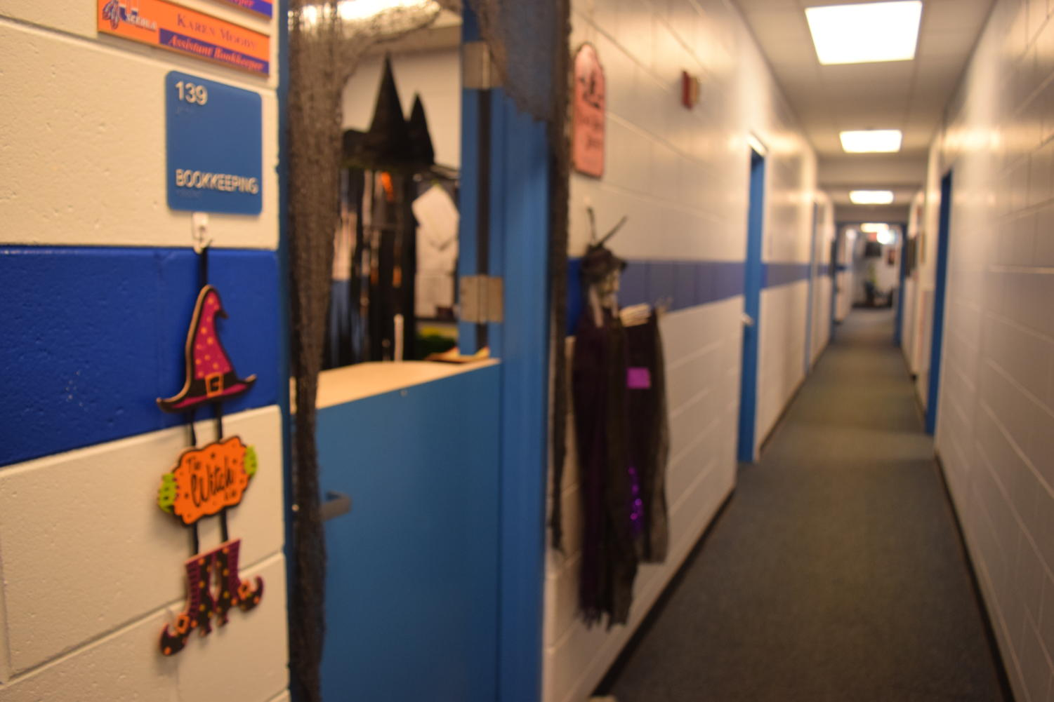 The front office goes all out for Halloween!