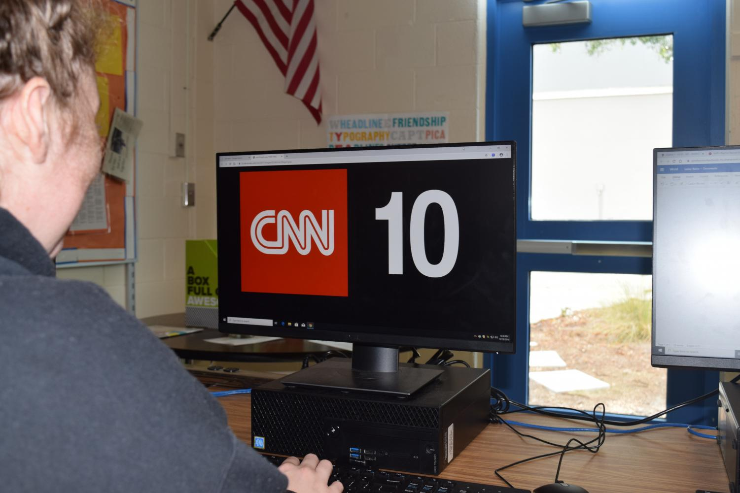 Raine Lester, 12th grade, watches CNN 10 to get her daily news.