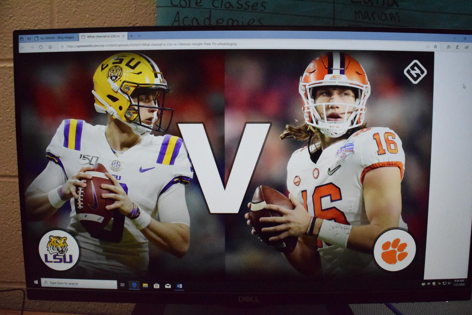 LSU and Clemson go head to head in the College Football Playoff National Championship.