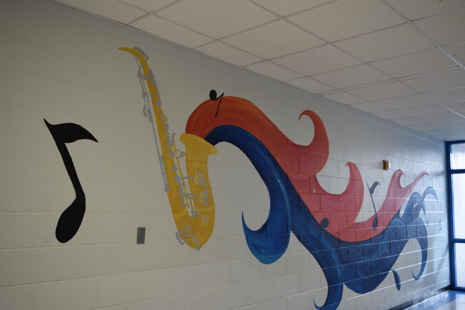 This mural is next to where the chorus practices for MPA.