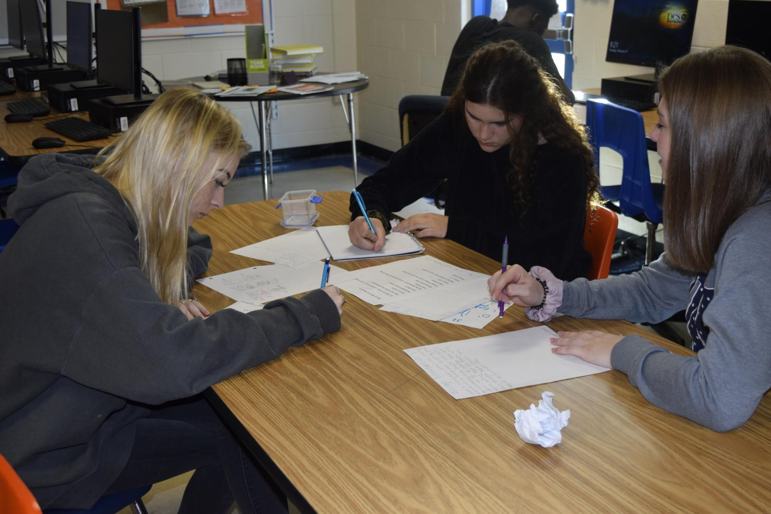 Osceola students work their hardest to avoid being overwhelmed.