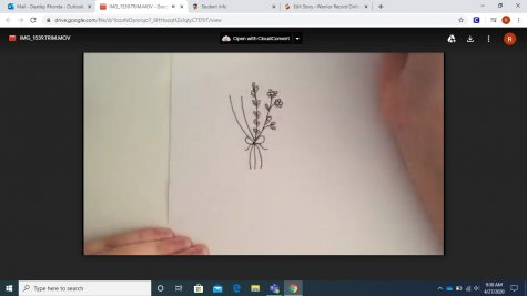How to draw a bouquet on a card for Mother