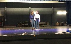 Seniors Carly Davenport and Sophia Paige rehearsed