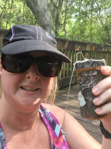 Mrs. Friend spent some time geocaching recently.