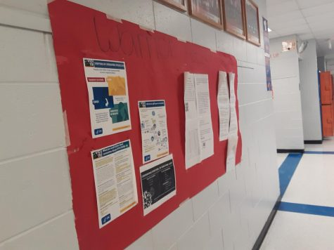 Before spring break, staff members of The Warrior Record posted updates about the virus in the hallway. Now students are dealing with the virus in their workplaces.